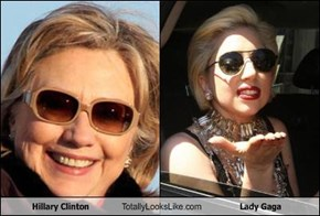 Hillary Clinton Totally Looks Like Lady Gaga