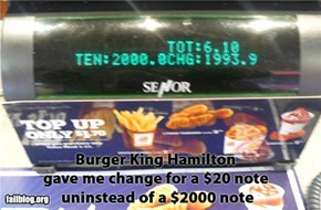 $2000 Burger Register Fail