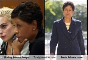 Lindsay Lohan's lawyer Totally Looks Like Fresh Prince's mom