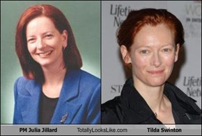 PM Julia Jillard Totally Looks Like Tilda Swinton