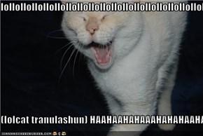 lollollollollollollollollollollollollollollollollollollollollollollollollollo  (lolcat tranulashun) HAAHAAHAHAAAHAHAHAAHAHAHAAHAHAHAAA