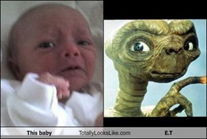 This baby Totally Looks Like E.T