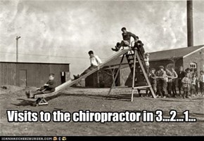 Visits to the chiropractor in 3...2...1...