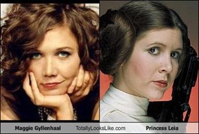 Maggie Gyllenhaal Totally Looks Like Princess Leia