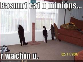 Basmnt cat n minions...  r wachin u.
