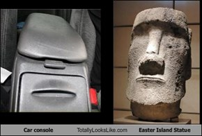 Car console Totally Looks Like Easter Island Statue