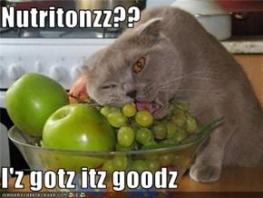 Nutritonzz??  I'z gotz itz goodz