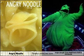 Angry Noodle Totally Looks Like Oogie Boogie from Nightmare Before Christmas
