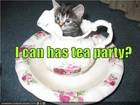 I can has tea party?
