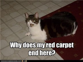 Why does my red carpet end here?