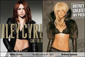 Miley Cyrus Totally Looks Like Britney Spears