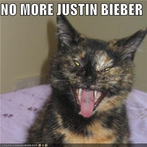 NO MORE JUSTIN BIEBER
