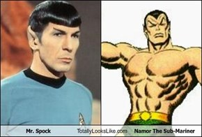 Mr. Spock Totally Looks Like Namor The Sub-Mariner