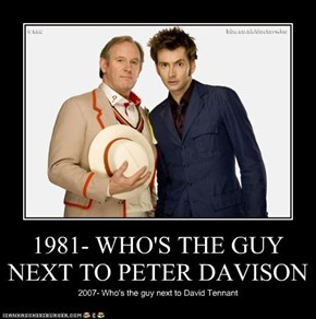 1981- WHO'S THE GUY NEXT TO PETER DAVISON