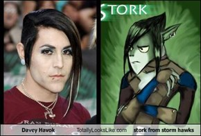 Davey Havok Totally Looks Like stork from storm hawks