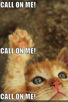 CALL ON ME! CALL ON ME! CALL ON ME!
