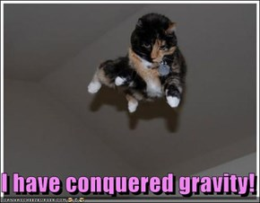 I have conquered gravity!