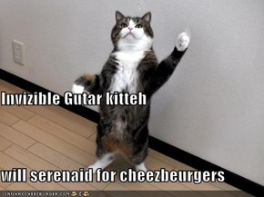 Invizible Gutar kitteh  will serenaid for cheezbeurgers