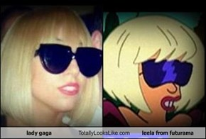 lady gaga Totally Looks Like leela from futurama