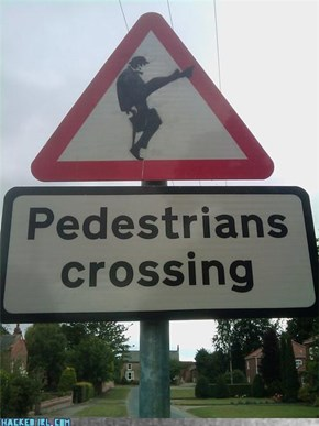 Caution! Silly Walks!
