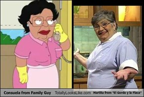 "Consuela from Family Guy Totally Looks Like Martita from ""El Gordo y la Flaca"""
