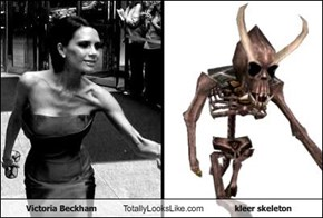 Victoria Beckham Totally Looks Like kleer skeleton