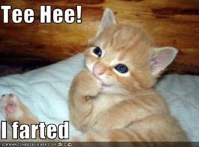 Tee Hee!  I farted