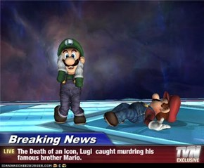 Breaking News - The Death of an Icon, Lugi  caught murdring his famous brother Mario.