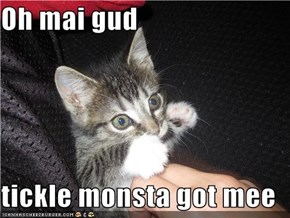 Oh mai gud  tickle monsta got mee