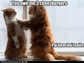 You owe me 3 cheezburgers