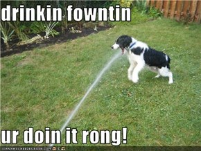 drinkin fowntin  ur doin it rong!