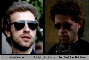 Chris Martin Totally Looks Like Bob Geldof as Pink Floyd