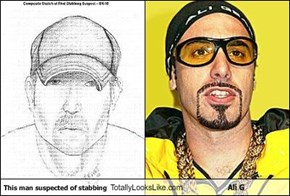 This man suspected of stabbing Totally Looks Like Ali G