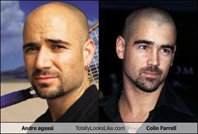Andre agassi Totally Looks Like Colin Farrell