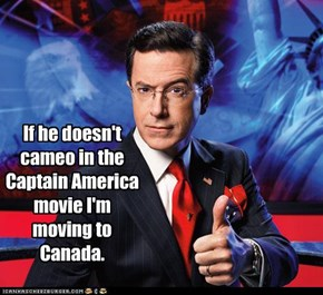 If he doesn't cameo in the Captain America movie I'm moving to Canada.