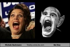 Michele Bachmann Totally Looks Like Bat Boy