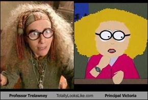 Professor Trelawney Totally Looks Like Principal Victoria