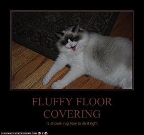 FLUFFY FLOOR COVERING