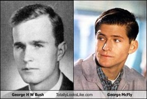 George H W Bush Totally Looks Like George McFly
