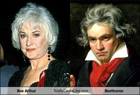 Bea Arthur Totally Looks Like Beethoven