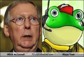 Mitch McConnell Totally Looks Like Slippy Toad