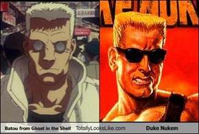 Batou from Ghost in the Shell Totally Looks Like Duke Nukem