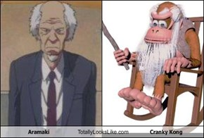 Aramaki Totally Looks Like Cranky Kong