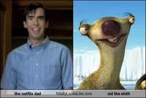 the netflix dad  Totally Looks Like sid the sloth