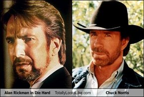 Alan Rickman in Die Hard Totally Looks Like Chuck Norris