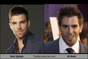 Zach Quinto Totally Looks Like Eli Roth