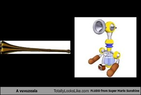 A vuvuzeala Totally Looks Like FLUDD from Super Mario Sunshine
