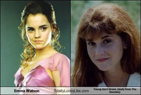 Emma Watson  Totally Looks Like Young Kerri Green (Andy from The Goonies)