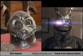 This helmet Totally Looks Like Frank from Donnie Darko