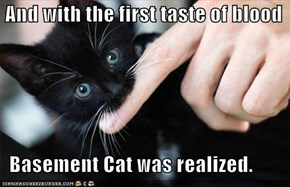 And with the first taste of blood    Basement Cat was realized.